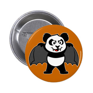 Vampire Panda Pinback Button