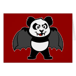 Greeting Card with Vampire Panda design