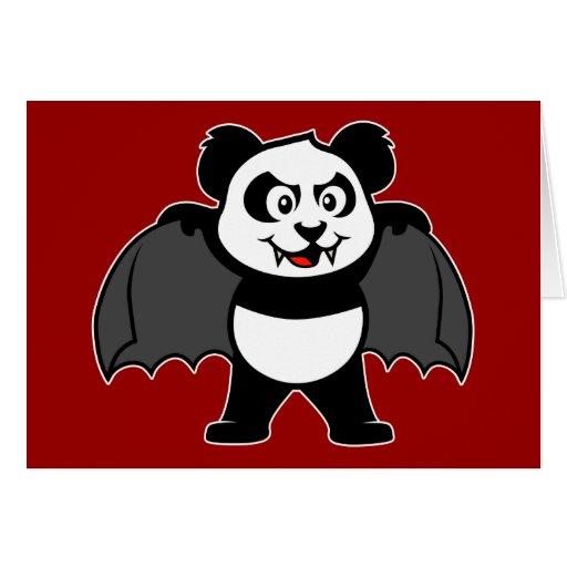 Vampire Panda Greeting Card