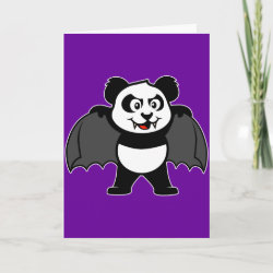 Standard Holiday Card with Vampire Panda design
