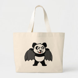 Jumbo Tote Bag with Vampire Panda design
