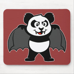 Mousepad with Vampire Panda design