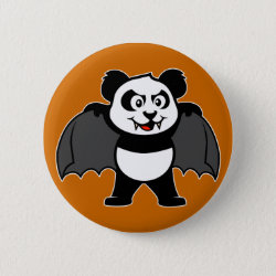 Round Button with Vampire Panda design