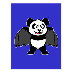 Postcard with Vampire Panda design