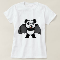 Women's Basic T-Shirt with Vampire Panda design