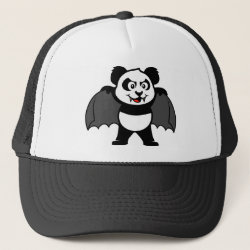 Trucker Hat with Vampire Panda design