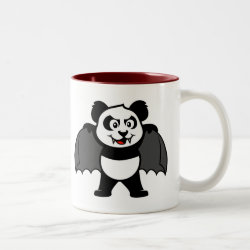 Two-Tone Mug with Vampire Panda design