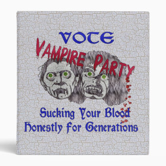 Vampire Party 3 Ring Binder