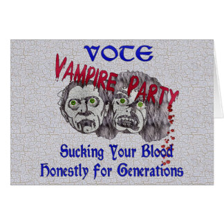 Vampire Party Card