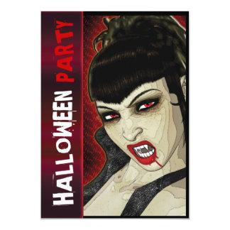 Vampire party comic fun kids 5x7 paper invitation card