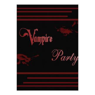 Vampire Party Custom Invite