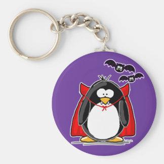 Vampire Penguin Basic Round Button Keychain