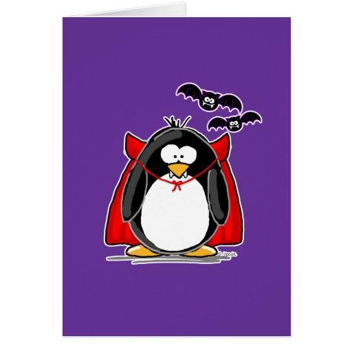 Vampire penguin greeting card zazzle for Penguin christmas cards homemade