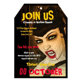 Vampire PERSONALIZE costume party 5x7 Paper Invitation Card
