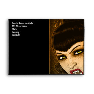 Vampire PERSONALIZE costume party Envelope