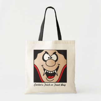 Vampire Personalize Trick or Treat Bag Tote Bag