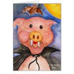 Vampire Pig Greeting Card