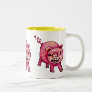 Vampire Pig Two-Tone Coffee Mug