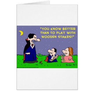 VAMPIRE PLAY WITH WOODEN STAKES CARDS
