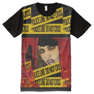 Vampire police tape blood murder All-Over-Print T-Shirt