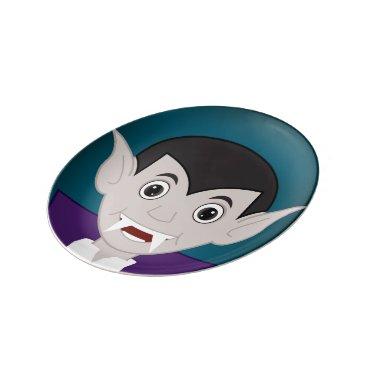 Halloween Themed Vampire Porcelain Plate