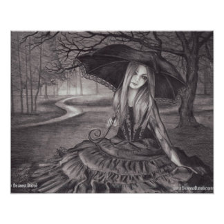 Vampire Poster Vampire Art Halloween Art Gothic