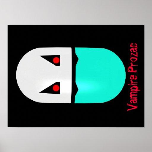 Vampire Prozac Parody Pill Poster 002