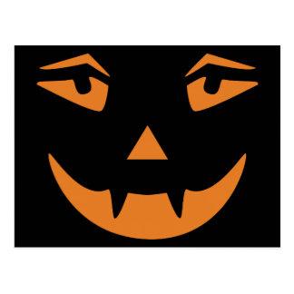 Vampire Pumpkin Face Postcard
