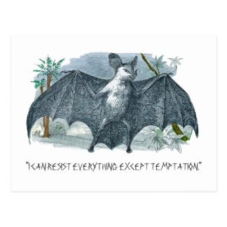 Vampire Quote for Halloween Postcard