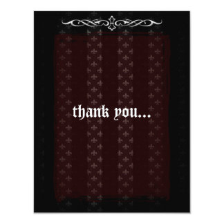 Vampire Red Goth Wedding Thank You Card
