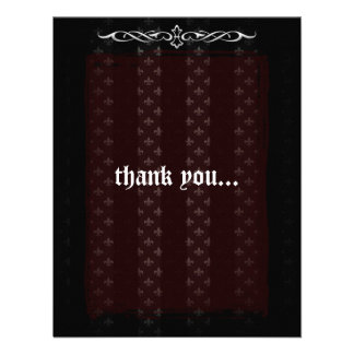 Vampire Red Goth Wedding Thank You Personalized Invite