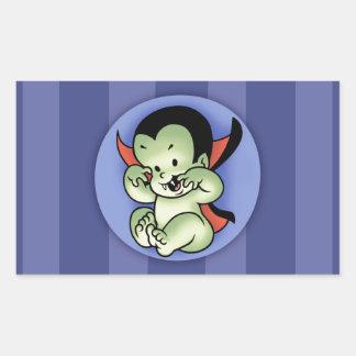 Vampire Rising Rectangular Sticker