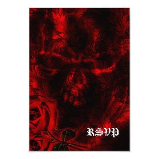 Vampire Roses Goth Wedding 3.5x5 Paper Invitation Card