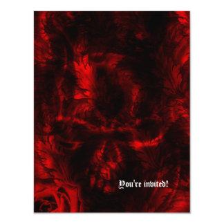 Vampire Roses Goth Wedding 4.25x5.5 Paper Invitation Card