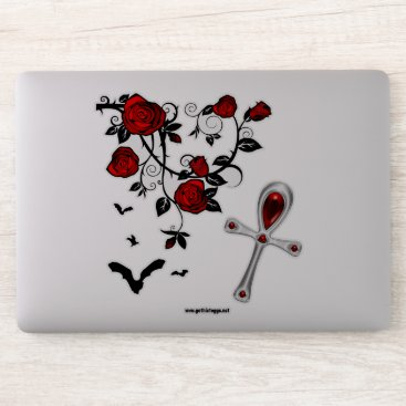 Vampire Roses Gothic Art Sticker