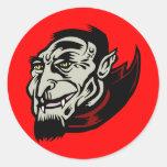 vampire round stickers