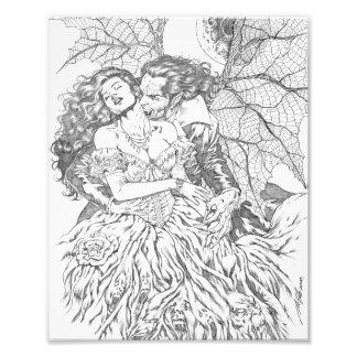 Vampire s Kiss by Al Rio - Vampire and Woman Art Photographic Print
