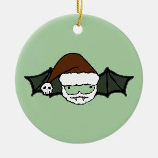 Vampire Santa Bat Ceramic Ornament