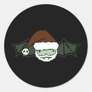 Vampire Santa Bat Classic Round Sticker
