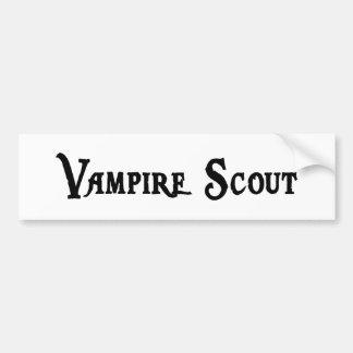 Vampire Scout Bumper Sticker