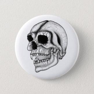 Vampire skull black and white Design Button