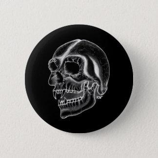 Vampire skull black and white Design Pinback Button