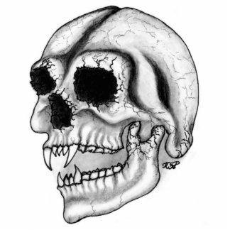 Vampire skull black and white Design Statuette