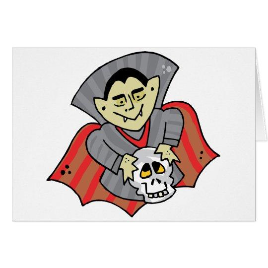 Vampire & Skull Card