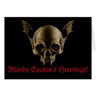Vampire Skull Card