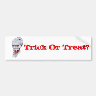 Vampire Skull Drawing Bumper Sticker
