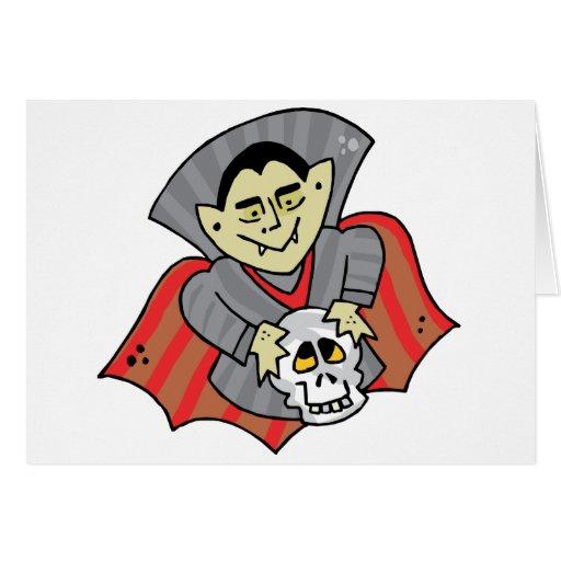 Vampire & Skull Greeting Card