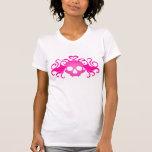 Vampire skull in pink t-shirts