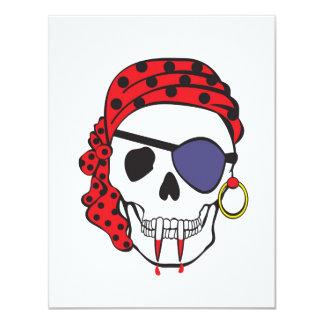 Vampire Skull Invitation