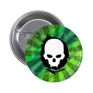 Vampire Skull Pinback Button